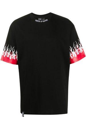 Vision Of Super Homem T-shirts & Manga Curta - Flame print T-shirt