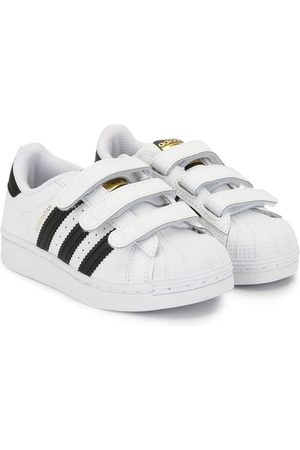 adidas Kids Superstar touch-strap sneakers