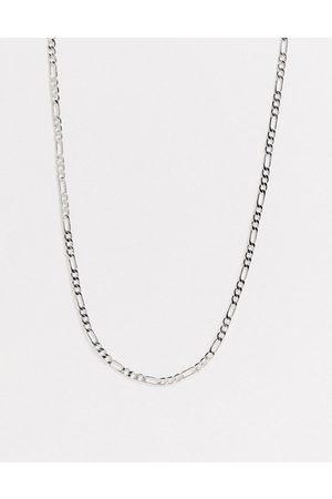 DesignB London DesignB skinny figaro neck chain in silver