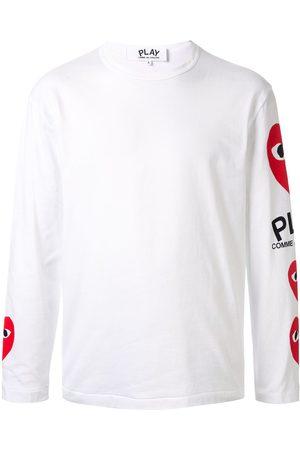 Comme Des Garçons Play Heart print long sleeve top
