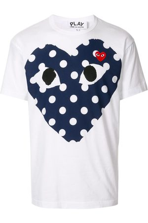 Comme Des Garçons Play Heart print crewneck T-shirt