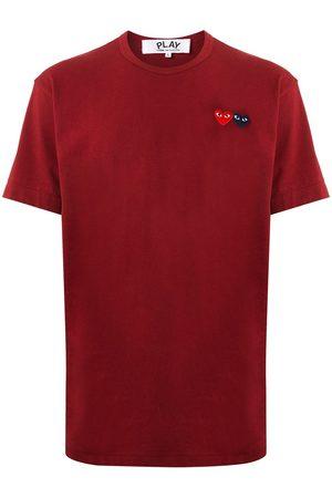 Comme Des Garçons Play Double heart appliquéd T-shirt