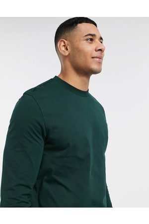 ASOS Long sleeve t-shirt with crew neck in green