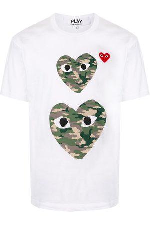 Comme des Garçons Homem T-shirts & Manga Curta - Heart print crewneck T-shirt