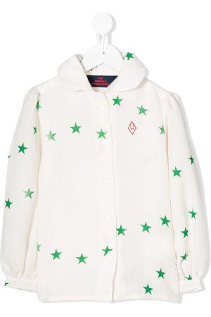 The Animals Observatory Menina Blusas - Star-print blouse