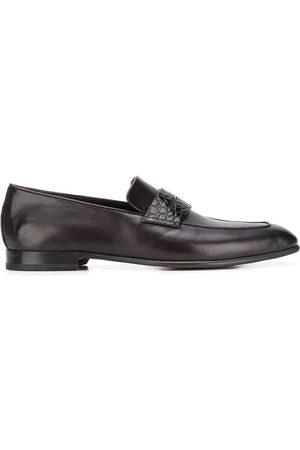 Ermenegildo Zegna Crocodile-effect penny loafers