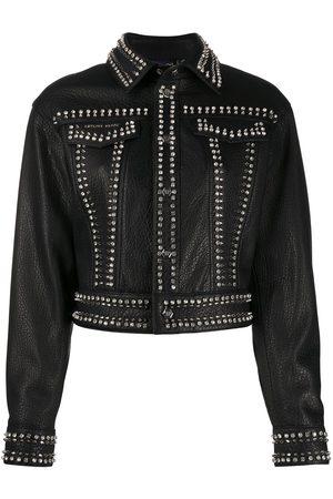 Philipp Plein Leather skull biker jacket