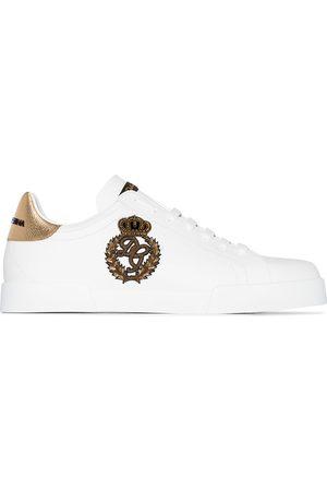Dolce & Gabbana Portofino logo crest leather sneakers