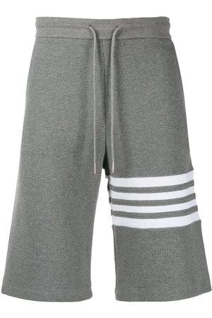 Thom Browne 4-Bar waffle stitch track shorts