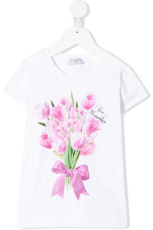 MONNALISA TEEN tulip-print T-shirt