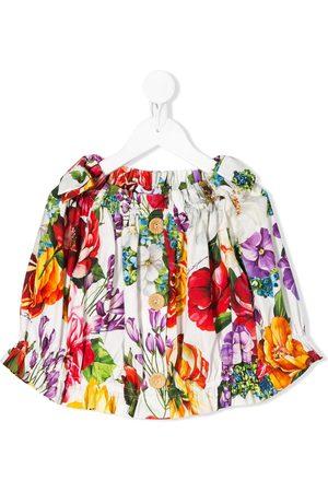 Dolce & Gabbana Floral print button blouse
