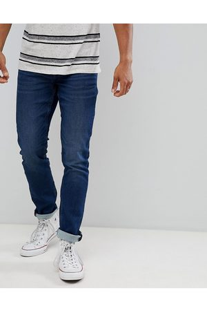 Only & Sons Slim fit jeans in mid blue