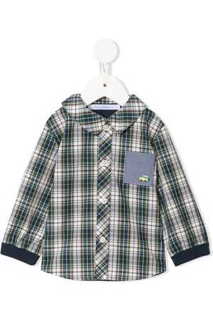Familiar Check patch-pocket shirt