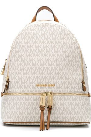 Michael Kors Medium Rhea logo-print backpack