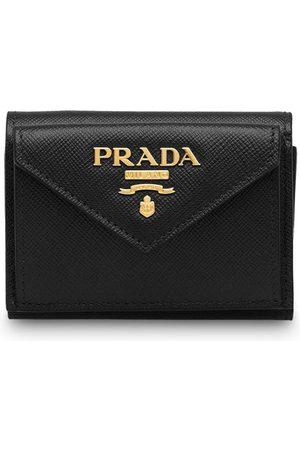 Prada Saffiano finish tri-fold wallet