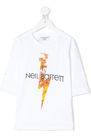 Neil Barrett Long sleeve flame print T-shirt