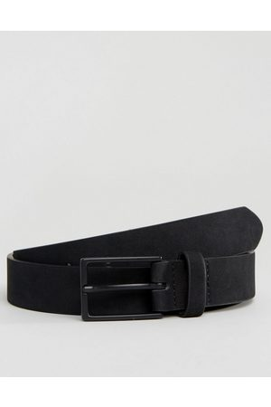 ASOS Slim belt in black faux suede