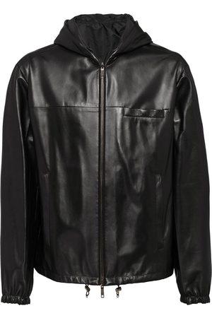 Prada Homem Casacos de Pele - Reversible nappa leather jacket