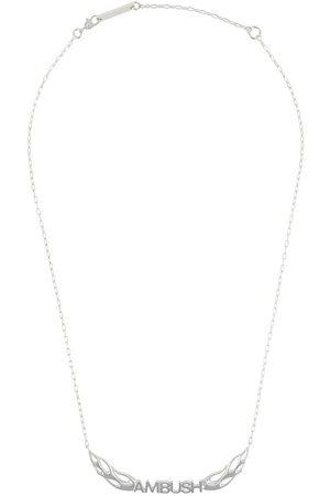 AMBUSH Homem Colares - Sterling flames logo necklace