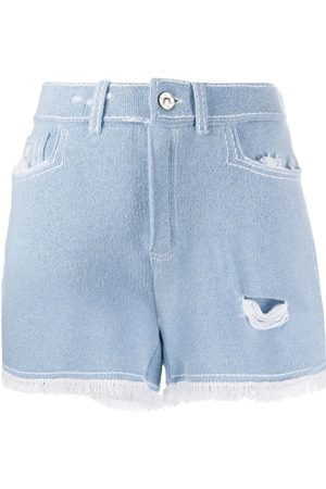 Barrie Fringed trim shorts