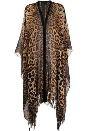 Saint Laurent Leopard print poncho