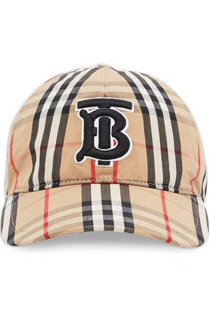 Burberry Monogram motif check print baseball cap