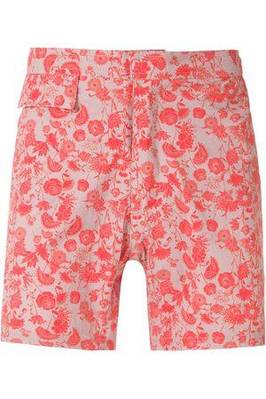 AMIR SLAMA Homem Calções de Banho - Floral tactel shorts