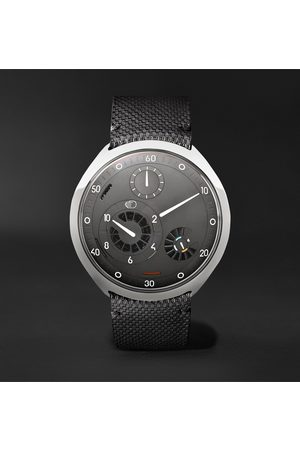Ressence Homem Relógios - Type 2G Automatic 45mm Titanium and Leather Watch with Smart Crown Technology