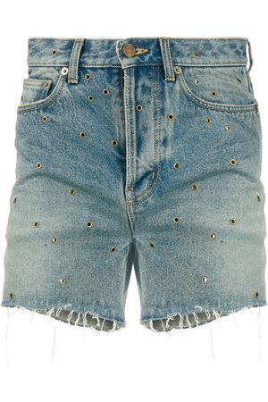 Saint Laurent Eyelet denim shorts