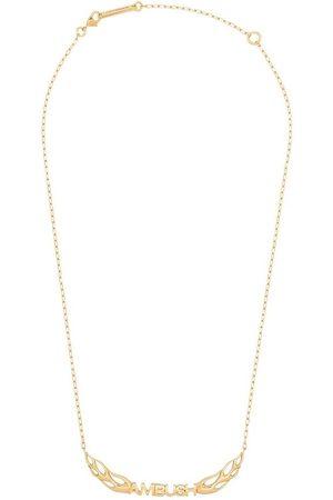 AMBUSH Plated flame logo necklace