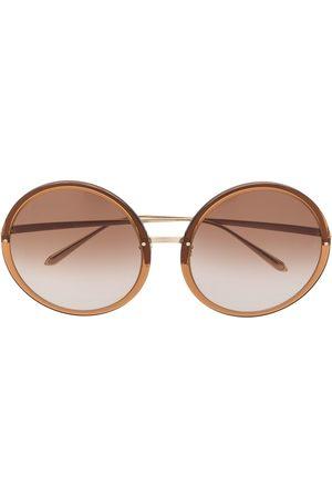 Linda Farrow Senhora Óculos de Sol - Kew round-frame sunglasses