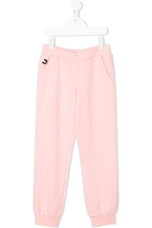 Philipp Plein Menina Calças - Logo track trousers