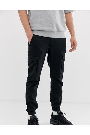 Jack & Jones Homem Calças Cargo - Intelligence cuffed cargo trouser in black
