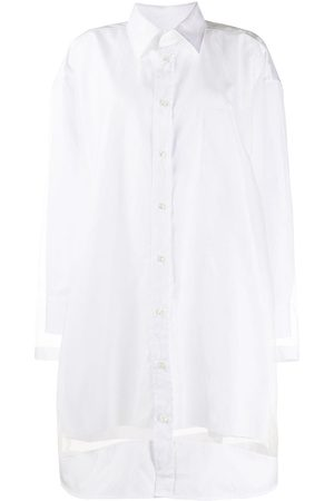 Maison Margiela Sheer panelled shirt dress