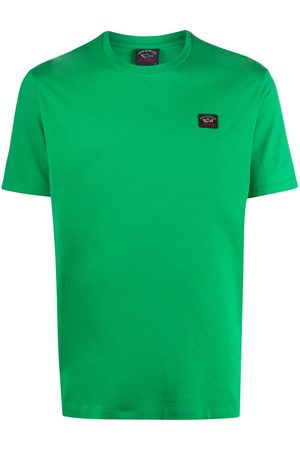 Paul & Shark Homem T-shirts & Manga Curta - Logo-patch crew neck T-shirt