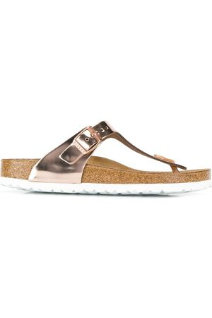 Birkenstock Senhora Cuecas - Metallic thong strap sandals