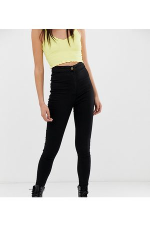 COLLUSION X002 super skinny high waist jeans in clean black