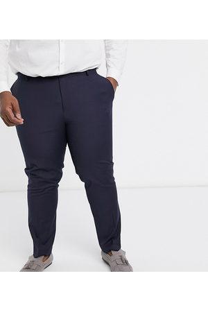 ASOS Plus slim suit trousers in navy
