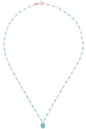 GIGI CLOZEAU Turquoise Rose Beaded Diamond Necklace