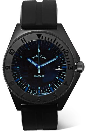 BAMFORD LONDON Mayfair Stainless Steel and Rubber Watch