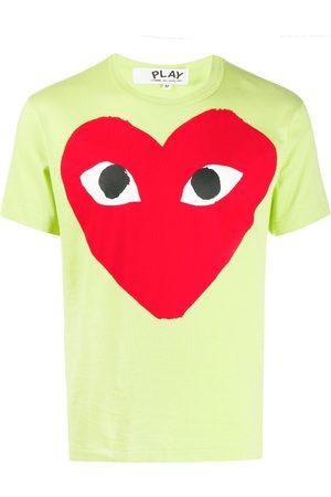 Comme des Garçons Heart print round neck T-shirt