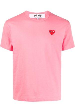 Comme des Garçons Heart embroidered round neck T-shirt