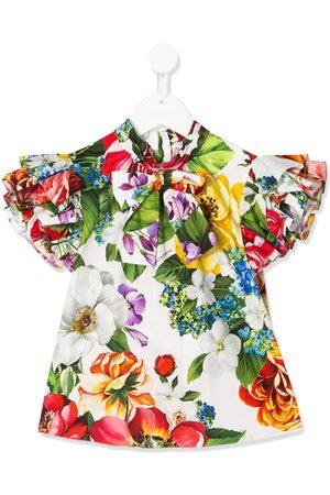 Dolce & Gabbana Menina Blusas - Floral print pussy bow blouse