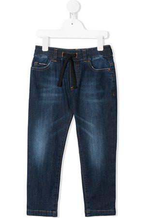 Dolce & Gabbana Menino Retos - Drawstring waist straight jeans