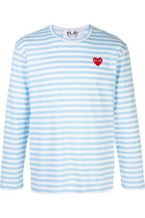 Comme des Garçons Striped logo T-shirt