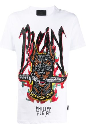 Philipp Plein SS Graffiti embroidered T-shirt