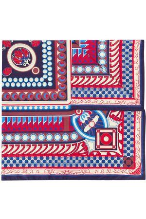 La DoubleJ Contrast print silk scarf