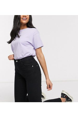 Wednesday's Girl Senhora Cintura Subida - High waist skinny jeans in black wash