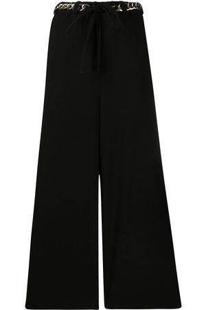Y'S Chain belt palazzo trousers