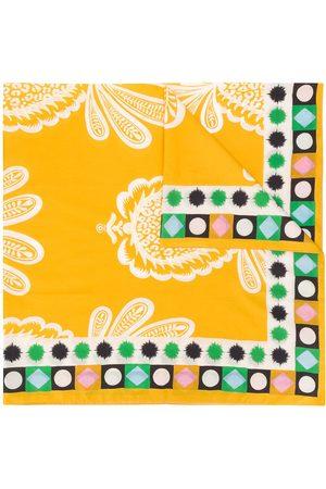 La DoubleJ Senhora Cachecóis & Echarpes - Pineapple print side patterned scarf